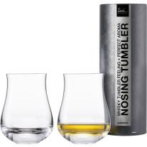 Whiskyglas Nosing Tumbler Gentleman – 2 Stück in Geschenkröhre