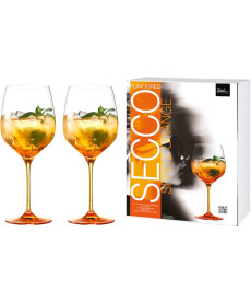 Spritz Orange Glas Secco Flavoured orangerot - 2 Stück im Geschenkkarton