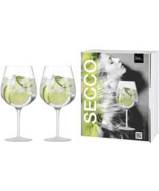 Gin Tonic Glas Secco Flavoured seidenmatt - 2 Stück im Geschenkkarton