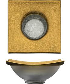 Kühlschale Ø 220 mm gold Gold Rush
