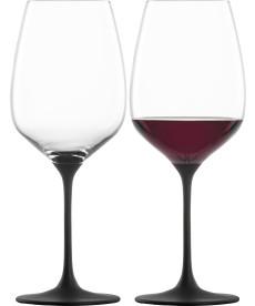 Rotweinglas Kaya black - 2 Stück im Geschenkkarton