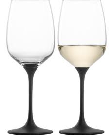 Weißweinglas Kaya black - 2 Stück im Geschenkkarton