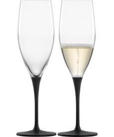 Champagnerglas Kaya black - 2 Stück i.Geschenkkarton
