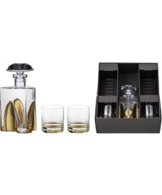 Geschenkset Gentleman gold mit Karaffe und 2 x Whiskyglas
