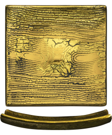 Schale 155 x 155 mm gold Goldleaf