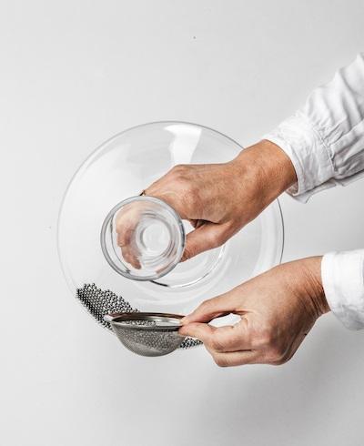 Dekanterreinigung Eisch Glas dritter Schritt